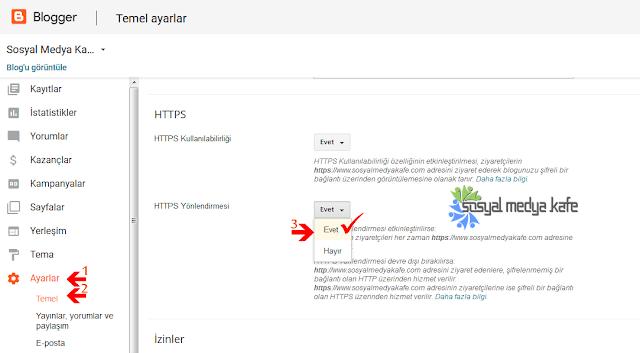 Blogger Özel Domain HTTPS SSL Sertifikası Ayarları