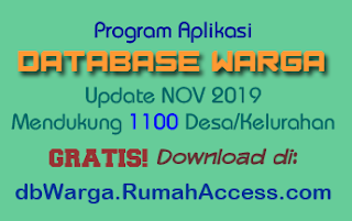 Update Nov 2019 Mendukung 1.100 Desa/Kelurahan