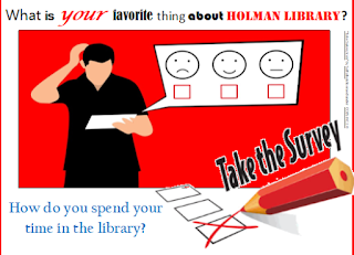 What is your favorite thing about the library? Take the survey!