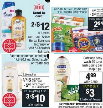 cvs free pantene, softsoap, herbal & more