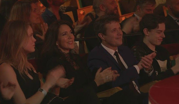 Crown Princess Mary of Denmark and Crown Prince Frederik of Denmark attended Denmark's biggest fundraising event, Danmarks Indsamling (National Collection) on February 6, 2016 at the Tivoli Concert