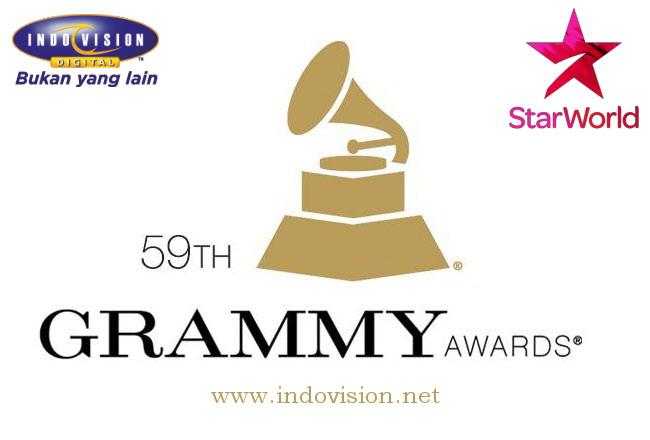 Jadwal tayang acara Grammy Awards di Star World dan Indovision.