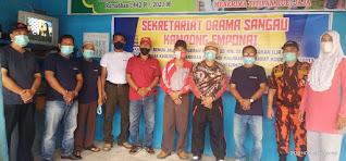 Wabup Yohanes Ontot Resmikan Sekretariat Komunitas Seni Drama Sangau Kampokng Emponai