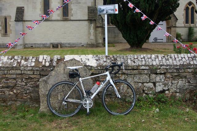Brockham church and my bike