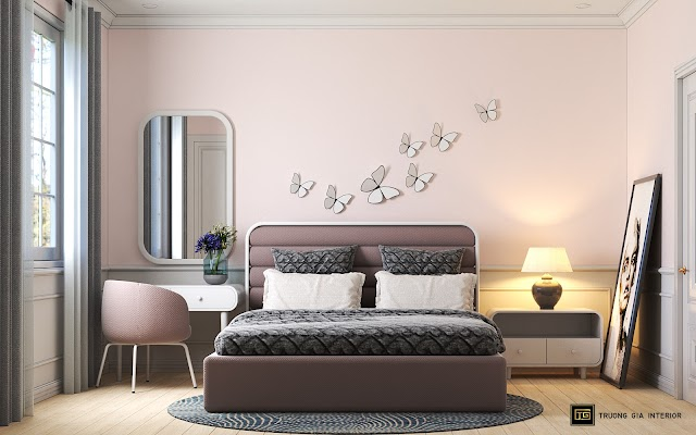 Mẫu phòng ngủ nhỏ xinh phong cách hoài cổ nhẹ nhàng