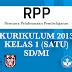 RPP Kelas 1 SD Terbaru