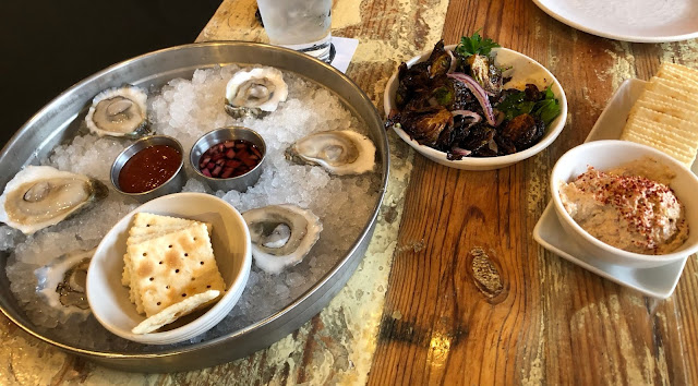 oysters and brussels sprouts