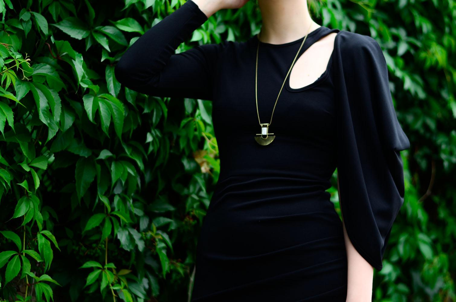 sukienka wesele studniówka mini mała czarna sylwester blog