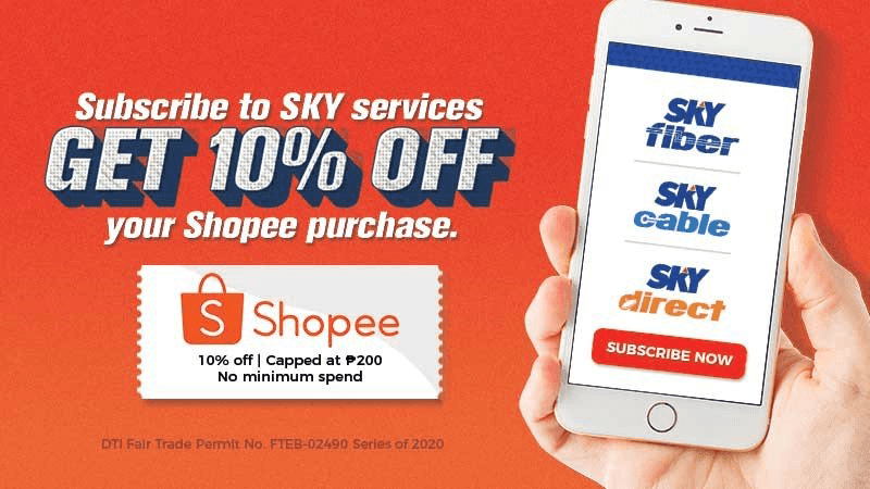 SKY partners with Shopee, to give customers up to PHP 400 discount