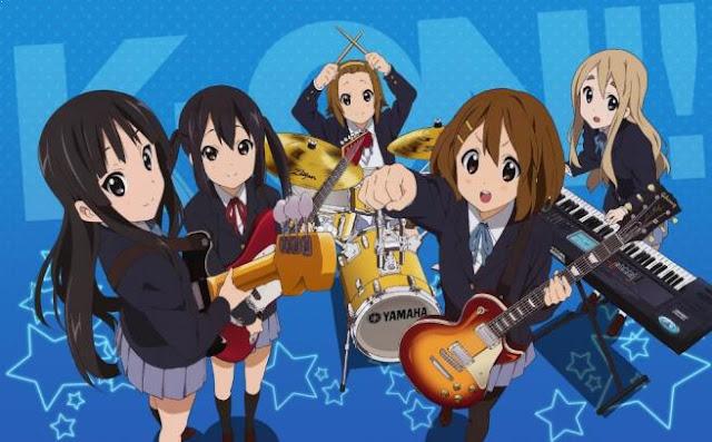 Daftar Anime School Comedy Terbaik dan Terpopuler - K-On