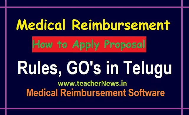 How to Apply Medical Reimbursement Proposal 2020 Rules, GO's in Telugu | Medical Reimbursement Software
