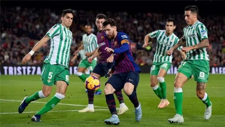 مباراة برشلونة وريال بيتيس في الدوري الاسباني الممتاز