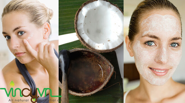 dưỡng da bằng dầu dừa
