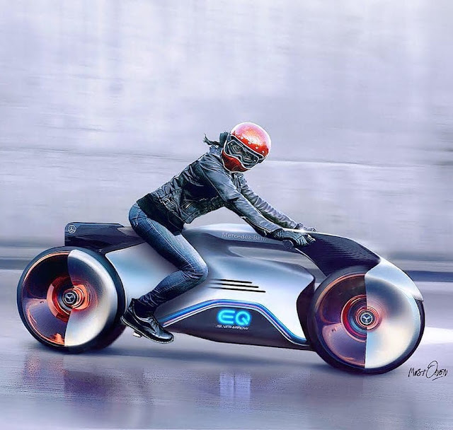 Mercedes-Benz EQ Silver Arrow Motorcycle Concept by Annsi Mustonen