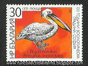 Pink Pelican Stamp