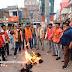 विरोध:भाजयुमो कार्यकर्ताओं ने मुख्यमंत्री हेमंत सोरेन का किया पुतला दहन