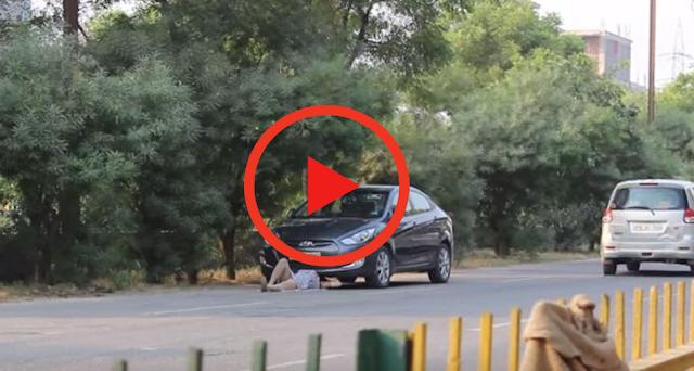 Χάλασε το αυτοκίνητό της και έσπευσαν να την βοηθήσουν όταν είδαν όμως «ποια» κρυβόταν κάτω έπαθαν ΣΟΚ!