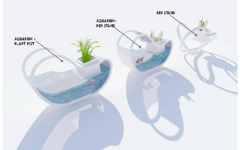 Product Design -Pen stand/ Aquarium (Concept Design) | Dana ...