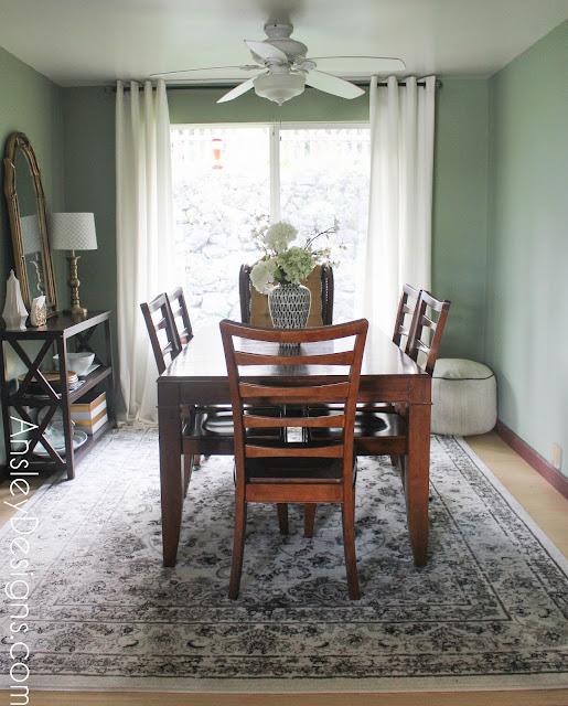 Traditional Bohemian Dining Room Oriental Rug Boho