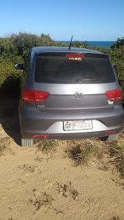 Carro de Padre  desaparecido é encontrado na praia de tambaba, Litoral Sul da PB
