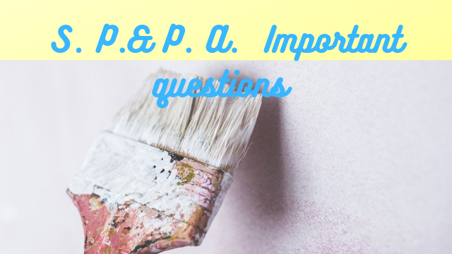 Sppa important questions