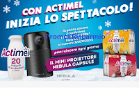 Logo Concorsi Danone ''Con Actimel inizia lo spettacolo'': vinci mini proiettori Nebula