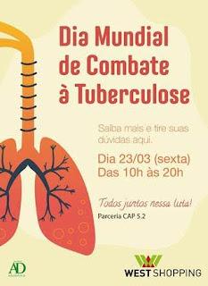 West Shopping promove ação pelo Dia Mundial de Combate à Tuberculose