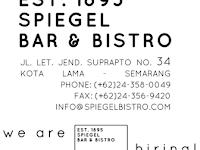 Lowongan Kerja di Spiegel Bar & Bistro - Semarang (Waiter/ss, Captain Waitres, Bartender Supervisor, Baker, Steward)