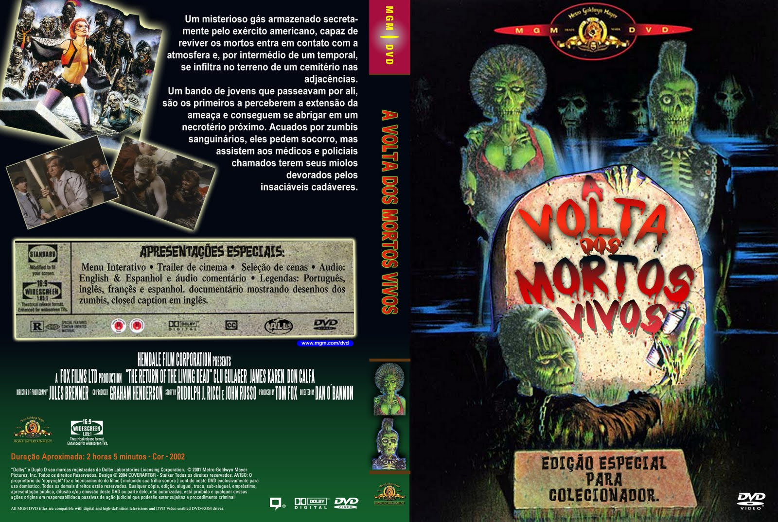 Capas Medina  Somente Capas de DVD A Volta dos Mortos Vivos