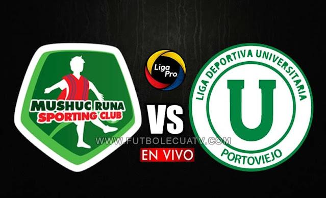 Mushuc Runa y Liga de Portoviejo se enfrentan en vivo a partir de las 15h30 hora local, por la fecha doce de la liga pro, siendo transmitido por canal GolTV Ecuador a efectuarse en el Estadio Coop. Ahorro y Crédito. Teniendo como juez principal a René Marín.