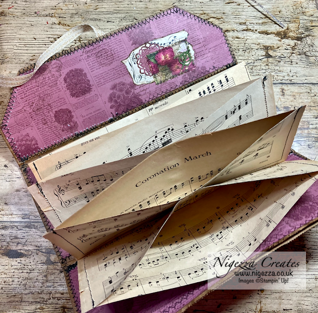 Vintage Ephemera Folder Using A Recycled Paper Bag
