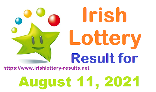 Irish Lottery Result for Wednesday, August 11, 2021