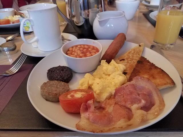 Desayuno en Troy Hall