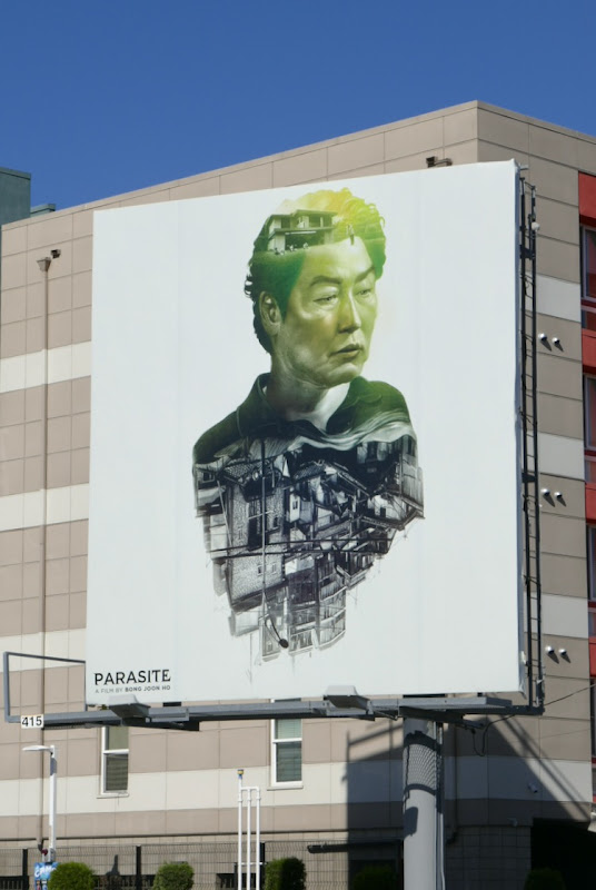 Parasite movie billboard