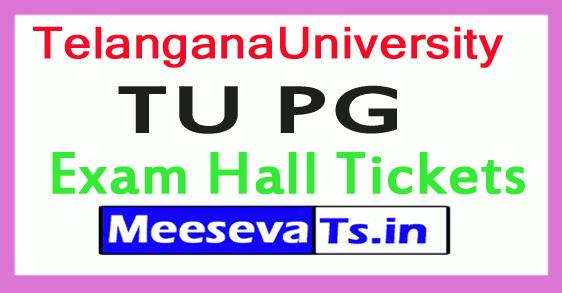 Telangana University TU PG Exam Hall Tickets