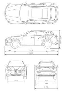Maserati Levante 2016 Dimensioni e Misure bagagliaio