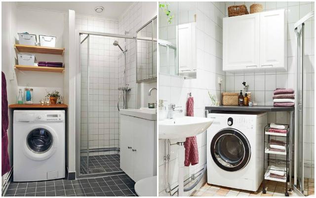 Cmo integrar la lavadora en el bao  La Garbatella