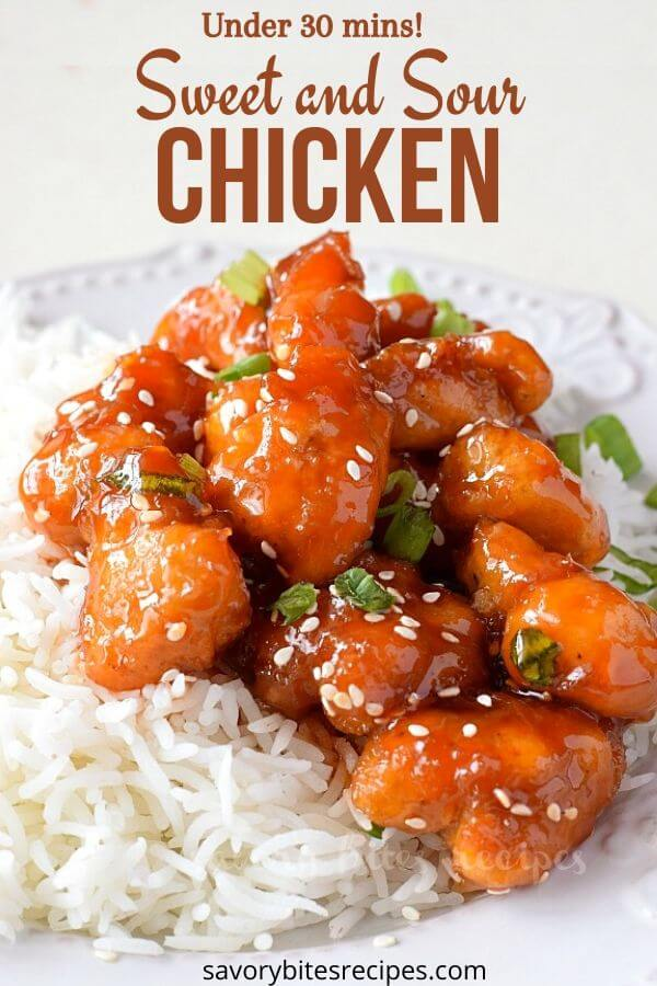 under 30 mins sweet and sour chicken