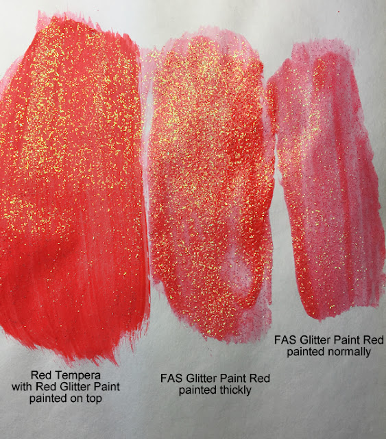How to paint with FAS School Glitter Paint