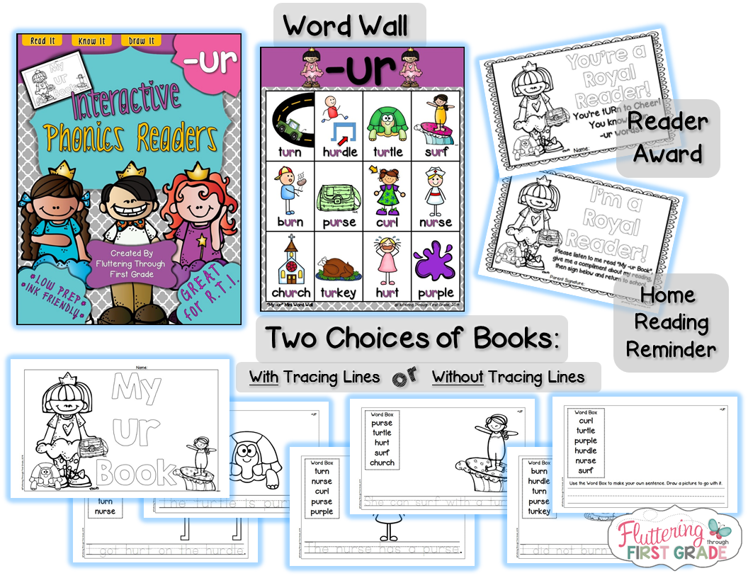 Interactive Phonics Readers R Controlled Vowels A Book