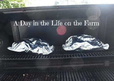 foil packets on grill