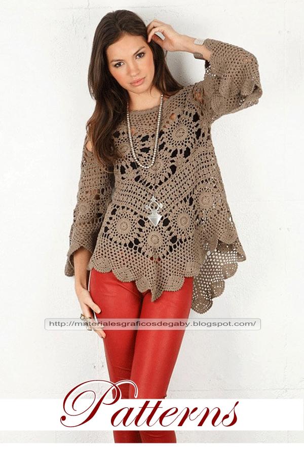 Materiales gráficos Gaby: Tunica y falda larga
