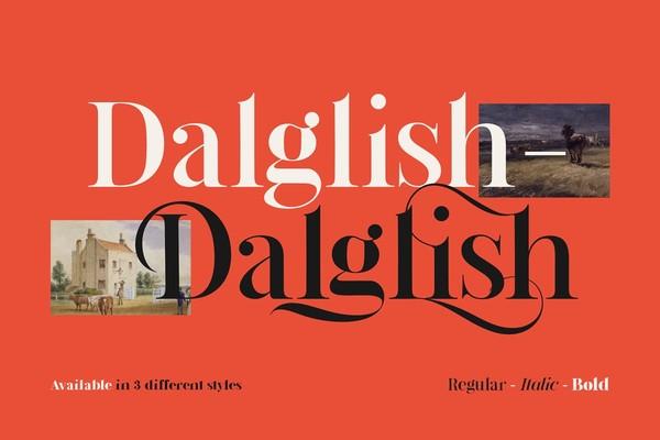 Dalglish Typeface Font