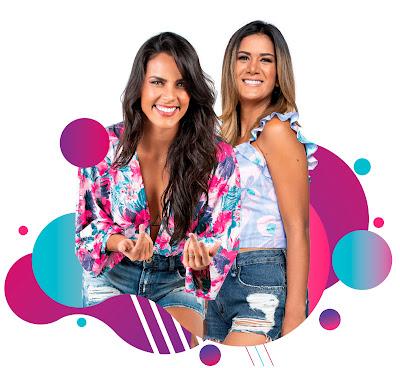 Ju Moraes e Ju Guimarães comandam a festa direto de Salvador - Divulgação/Band