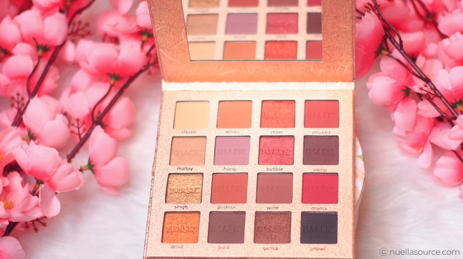 Imagic 16 color eyeshadow palette shades