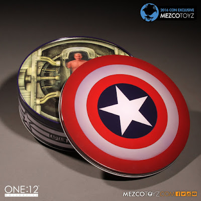 "San Diego Comic-Con 2016 Exclusive Deluxe ""Classic"" Captain America One:12 Collective Marvel Action Figure by Mezco Toyz"