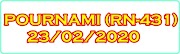 POURNAMI RN-431 Kerala Lottery Result Today 23-02-2020
