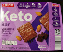 Box of Elevation Keto Chocolate Almond Brownie Bars