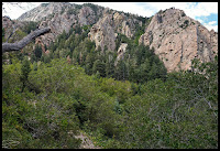 These are the cool Rugged Mountains you get to hike along and into for the Stairs Gulch Trail.