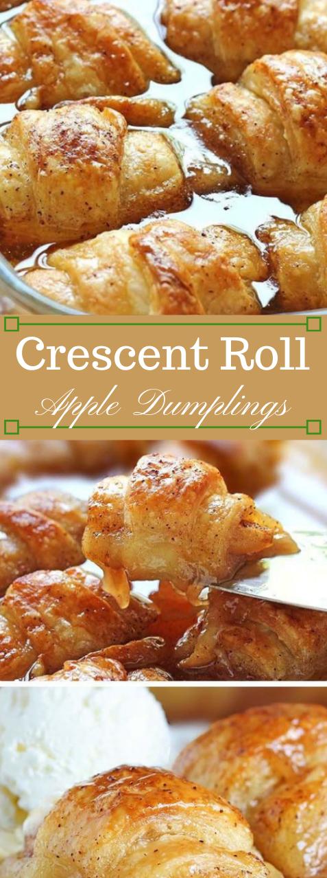 Crescent Roll Apple Dumplings #apple #dessert #recipes #rolls #cakes